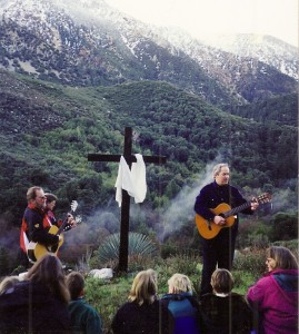 Kimball singing on the Moutain Easter